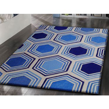 Modern Blue Area Rug TF 62