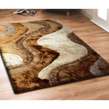 Modern Brown Shag Rug Design 29