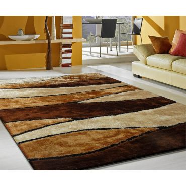 Modern Shag Area Rug 120 Brown