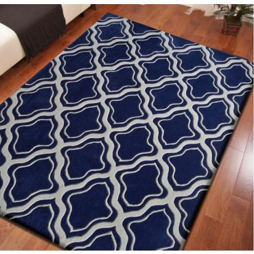 Transition TF 34 Blue Modern Rug