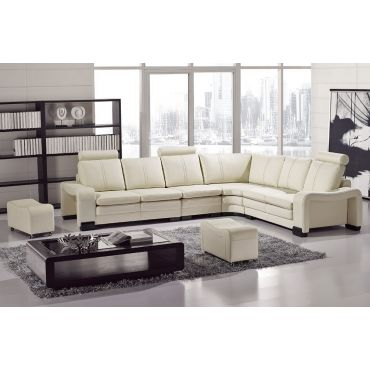 Modern Style Sectional With Ottomans L 213,Ivory Leather Sectional Armrests & Ottoman,Ivory Leather Armless Chair,Ivory Leather Sectional Storage Armrest