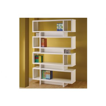 Jelissa White Finish Bookcase