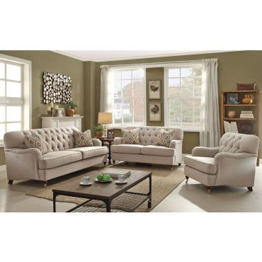 Monaco Linen Fabric Living Room Furniture