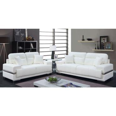 Monaco Modern White Leather Sofa,Monaco Modern White Leather Arm Chair