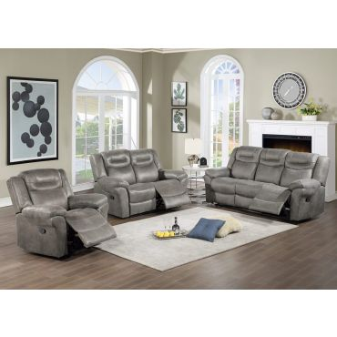 Monarch Grey Recliner Living Room