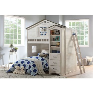 Montana Loft Bed Weathered White