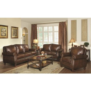 Monteral Genuine Leather Classic Sofa