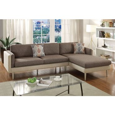 Monterey Brown Fabric Sectional
