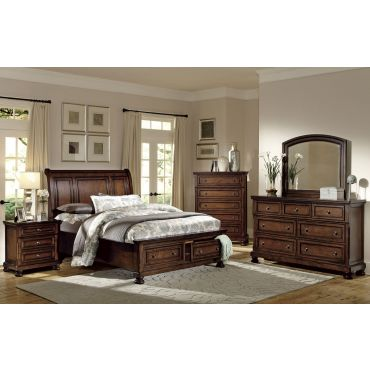 Morelle Transitional Style Storage Bed