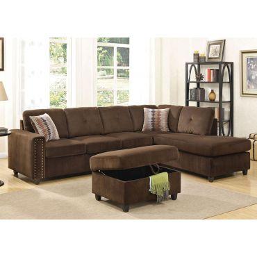 Morey Velvet Sectional Sofa