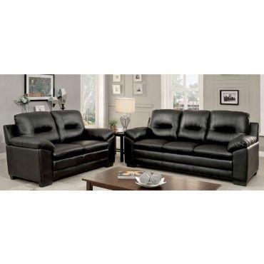 Morton Casual Sofa Black Leather