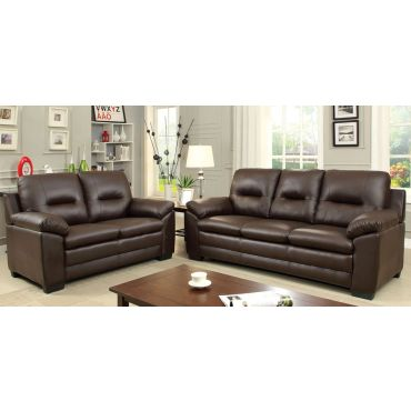 Morton Brown Leather Casual Sofa