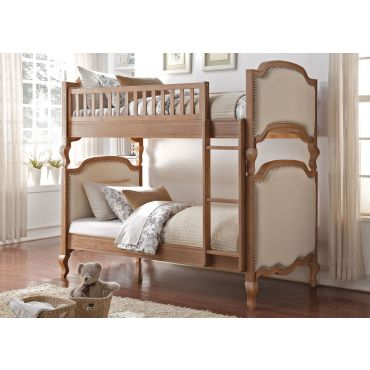 Moscone Rustic Oak Finish Bunk Bed