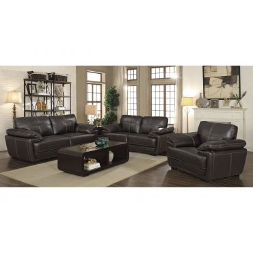 Murik Black Leather Casual Living Room,Murik Black Leather Casual Sofa,Murik Black Leather Casual Love Seat