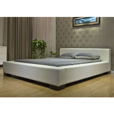 Myall Modern Platform Leather Bed
