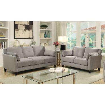 Myra Grey Velvet Sofa Collection