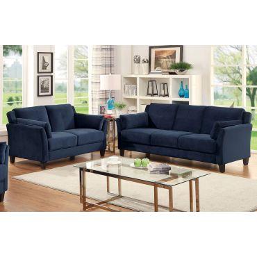 Myra Navy Velvet Living Room