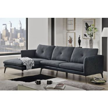 Maura Modern Fabric Sectional Sofa