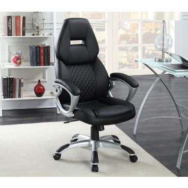Nars Office Chair Black Leather