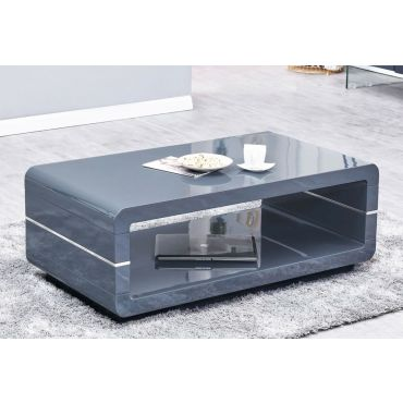Nella Modern Coffee Table Gray Lacquer