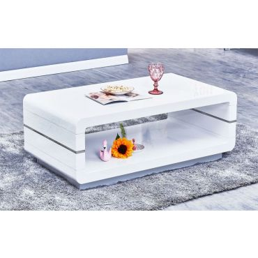 Nella White Lacquer Coffee Table