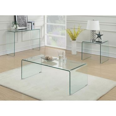 Nelson Clear Glass Coffee Table