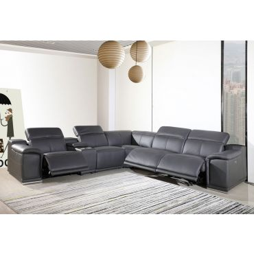 Nieves Italian Leather Sectional