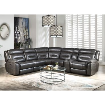 Nicholas Power Recliner Sectional With Console