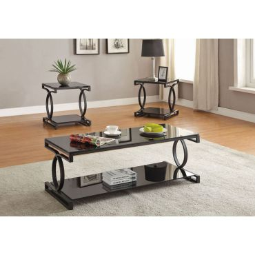 Nicola Modern Black Coffee Table Set