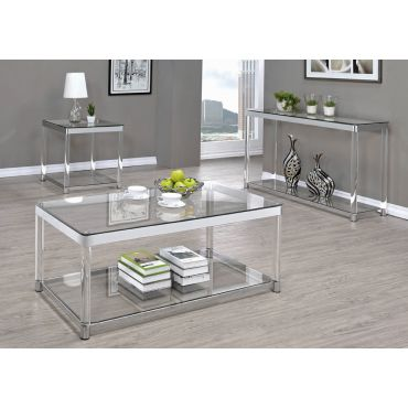 Nicson Modern Glass Coffee Table,Nicson Modern Glass End Table,Nicson Modern Glass Sofa Table