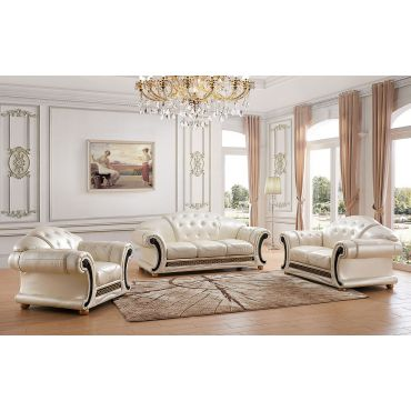 Bergamo Button Tufted Leather Sofa