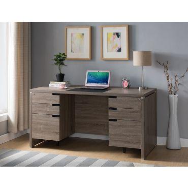 Nolan Rustic Taupe Office Desk