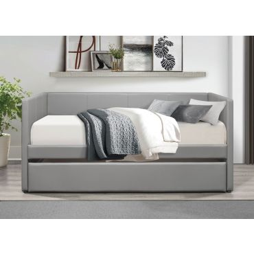 Norabel Grey Leather Daybed Set
