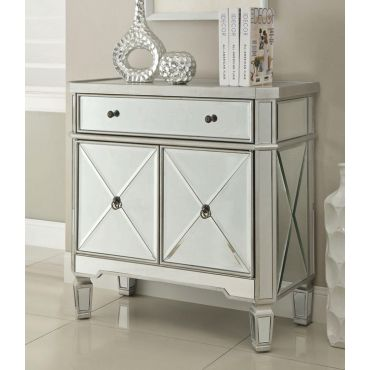 Wiley Mirrored Accent Wine Cabinet