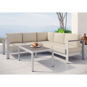 Omnia Beige Outdoor Sectional Set