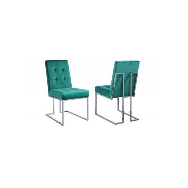 Orchid Green Velvet Dining Chairs