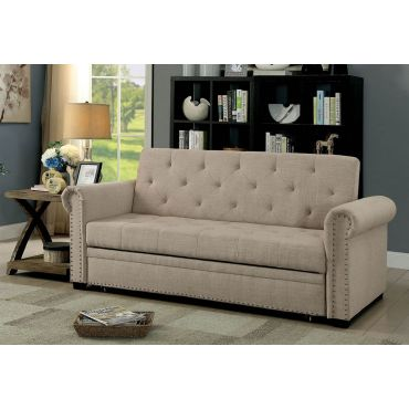 Oregon Sofa Sleeper Beige Linen