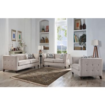 Orel Casual Sofa Grey Fabric