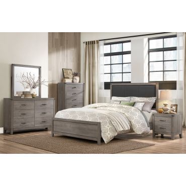 Otis Weathered Grey Finish Bed