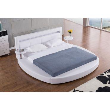 Palazzo White Round Platform Bed