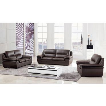 Panda Chocolate Genuine Leather Sofa
