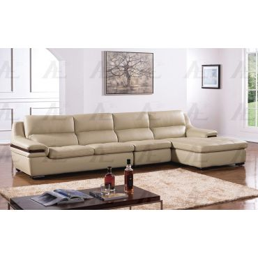Panda Modern Sectional Top Grain Leather