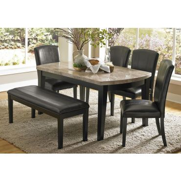Parham Marble Top Dining Table Set