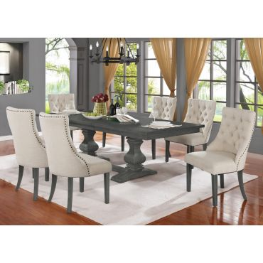 Paton Rustic Grey Dining Table Set