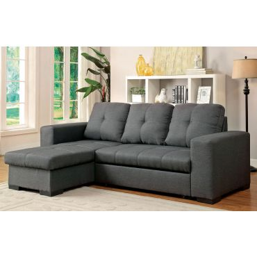 Patten Grey Fabric Sectional Sleeper