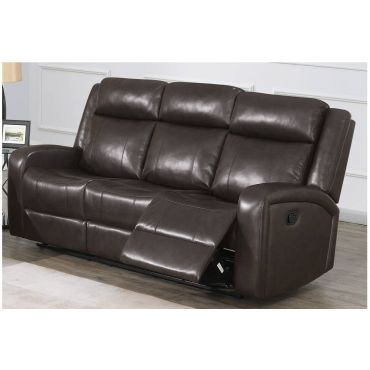 Pavilion Dark Brown Leather Recliner Sofa