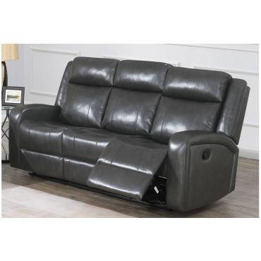 Pavilion Grey Leather Recliner Sofa