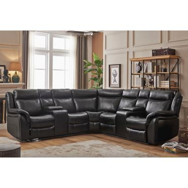 Payton Power Recliner Sectional With Lights