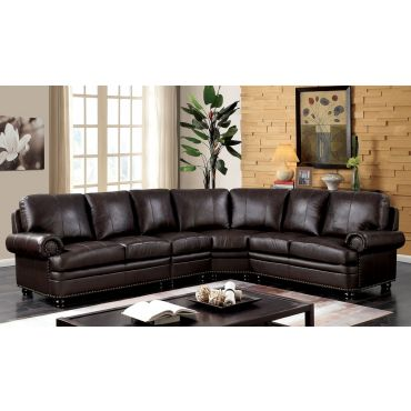 Payton Top Grain Leather Sectional