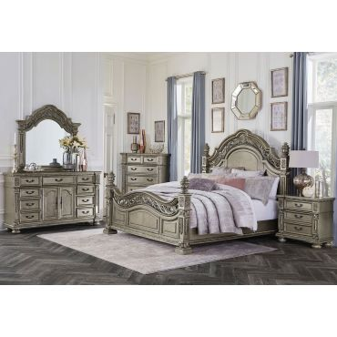 Pecardo Platinum Gold Bedroom Collection